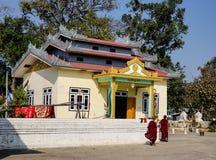 Βουδιστικό μοναστήρι στο κράτος της Shan, το Μιανμάρ στοκ εικόνα