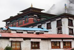 Βουδιστικό μοναστήρι Tengboche στο Ιμαλάια Στοκ Φωτογραφία