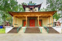 Βουδιστικό datsan Dechen Ravzhalin σε Arshan Ρωσία Στοκ Φωτογραφία