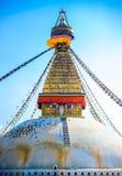 Βουδιστικό stupa στα βουνά, περιοχή Manaslu, του Νεπάλ Στοκ Φωτογραφία