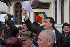 Βουκουρέστι, Ρουμανία - διαμαρτυρία ενάντια στον Πρόεδρο Klaus Iohannis Στοκ φωτογραφίες με δικαίωμα ελεύθερης χρήσης