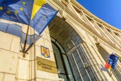 Βουκουρέστι, Ρουμανία - 4 Ιανουαρίου: Το κοινό χρηματοδοτεί το Υπουργείο Στοκ εικόνες με δικαίωμα ελεύθερης χρήσης