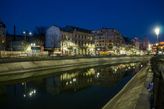 Βουκουρέστι στη νύχτα Στοκ εικόνες με δικαίωμα ελεύθερης χρήσης