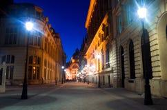 Βουκουρέστι τή νύχτα - το ιστορικό κέντρο Στοκ Φωτογραφίες