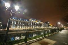 Βουκουρέστι τη νύχτα - παλάτι της δικαιοσύνης στοκ εικόνες με δικαίωμα ελεύθερης χρήσης