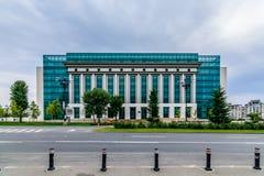 ΒΟΥΚΟΥΡΕΣΤΙ, ΡΟΥΜΑΝΙΑ - 25 ΟΚΤΩΒΡΊΟΥ 2015: Ρουμανική εθνική βιβλιοθήκη Στοκ Εικόνες