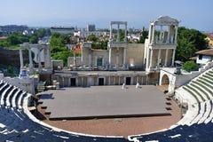 Βουλγαρία, Plovdiv, αρχαίο θέατρο Στοκ Εικόνες