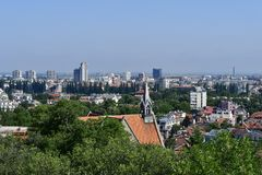 Βουλγαρία, Plovdiv, εικονική παράσταση πόλης Στοκ Εικόνες