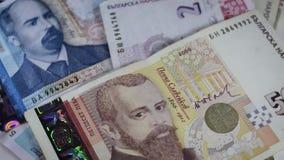 Βουλγαρική περιστροφή λογαριασμών νομίσματος απόθεμα βίντεο