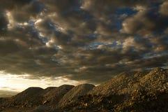 βουνά άμμου στο ηλιοβασίλεμα Στοκ Εικόνες