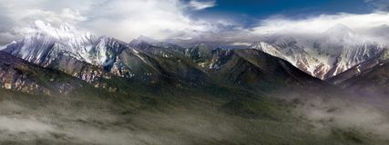 βουνά αποστολής Στοκ Φωτογραφίες
