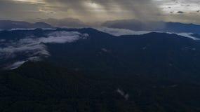 Βουνά από τον υψηλό Στοκ Εικόνες