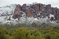 Βουνά Αριζόνα δεισιδαιμονίας Στοκ εικόνες με δικαίωμα ελεύθερης χρήσης