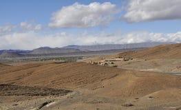 Βουνά ατλάντων κοιλάδων Ziz, Μαρόκο στοκ εικόνες
