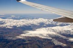 Βουνά ατλάντων από το αεροπλάνο Στοκ Εικόνες