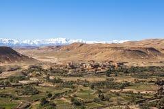 Βουνά ατλάντων στο Μαρόκο, Αφρική Στοκ εικόνα με δικαίωμα ελεύθερης χρήσης