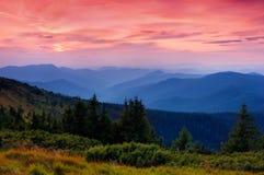 βουνά αυγής στοκ φωτογραφίες
