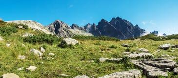 Βουνά, βουνά Tatra, Σλοβακία πανόραμα Στοκ εικόνα με δικαίωμα ελεύθερης χρήσης
