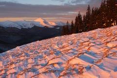 βουνά βραδιού Στοκ Εικόνες
