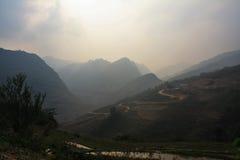 Βουνά βόρειο Βιετνάμ εκταρίου Giang Στοκ Φωτογραφίες