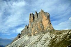 Βουνά δολομιτών. Ιταλία Στοκ Εικόνες