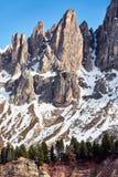 Βουνά δολομιτών στο βόρειο τμήμα της Ιταλίας, Trentino Τοπίο Στοκ εικόνες με δικαίωμα ελεύθερης χρήσης