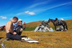 βουνά δύο αλόγων mens στοκ φωτογραφίες με δικαίωμα ελεύθερης χρήσης