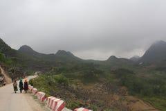 Βουνά εκταρίου Giang, βόρειο Βιετνάμ Στοκ Φωτογραφία