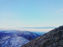 βουνά κάπου Στοκ Φωτογραφίες