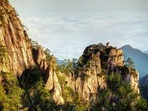 Βουνά Κίνα Huangshan Στοκ εικόνα με δικαίωμα ελεύθερης χρήσης