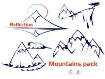 Βουνά καθορισμένα Στοκ Εικόνες