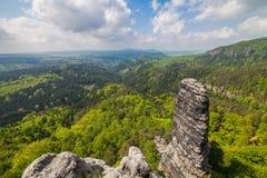 Βουνά και βράχοι στο δάσος Στοκ Εικόνες