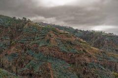 Βουνά και σκοτεινά σύννεφα θύελλας στοκ φωτογραφίες με δικαίωμα ελεύθερης χρήσης