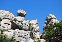 Βουνά καρστ, Torcal de Antequera Στοκ φωτογραφία με δικαίωμα ελεύθερης χρήσης