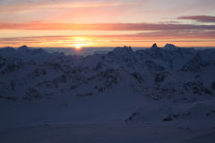 βουνά Καύκασου Στοκ εικόνες με δικαίωμα ελεύθερης χρήσης