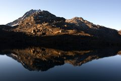 βουνά λιμνών Στοκ Εικόνα