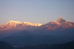 βουνά Νεπάλ Στοκ Φωτογραφία