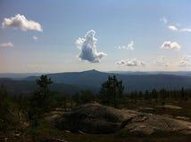 βουνά νορβηγικά στοκ εικόνες