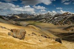 Βουνά ουράνιων τόξων σε Landmannalaugar, Ισλανδία Στοκ φωτογραφία με δικαίωμα ελεύθερης χρήσης