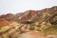 Βουνά ουράνιων τόξων Danxia, Zhangye, επαρχία Gansu, Κίνα Στοκ εικόνες με δικαίωμα ελεύθερης χρήσης