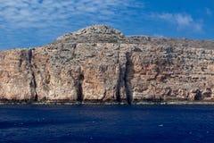 Βουνά ουρανού θάλασσας βράχων, Balos, Gramvousa, Κρήτη Ελλάδα Στοκ φωτογραφία με δικαίωμα ελεύθερης χρήσης