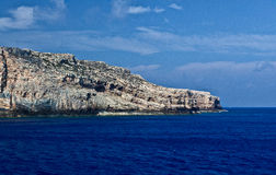 Βουνά ουρανού θάλασσας βράχων, Balos, Gramvousa, Κρήτη Ελλάδα Στοκ Εικόνες