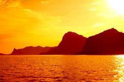 Βουνά ουρανού θάλασσας Στοκ Φωτογραφία