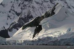 βουνά παγετώνων της Ανταρ&kap Στοκ Εικόνα