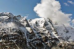 Βουνά παγετώνων του Franz Josef Kaiser Grossglockner, αυστριακές Άλπεις Στοκ Φωτογραφίες