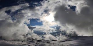Βουνά πανοράματος Στοκ εικόνες με δικαίωμα ελεύθερης χρήσης