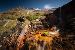 βουνά πεζοπορίας Στοκ Εικόνες