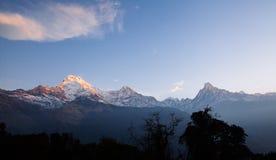 Βουνά περιοχής Annapurna στα Ιμαλάια του Νεπάλ Στοκ Εικόνες