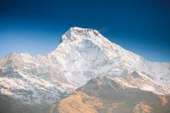 Βουνά περιοχής Annapurna στα Ιμαλάια του Νεπάλ Στοκ εικόνα με δικαίωμα ελεύθερης χρήσης