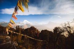 Βουνά περιοχής Annapurna στα Ιμαλάια του Νεπάλ Στοκ εικόνες με δικαίωμα ελεύθερης χρήσης